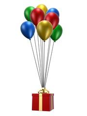 ballons mit geschenk