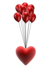 rotes herz an ballons