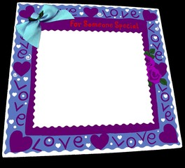 st. valentin's card. for someone special. love