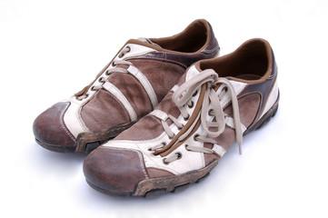 worn modern shoes