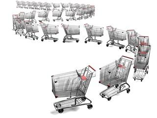 shopping cart line