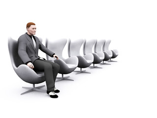 chairs and businessman