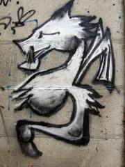 graffiti dragon