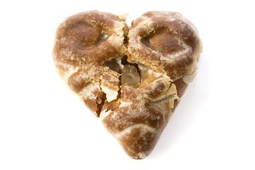 break heart - shaped cookie