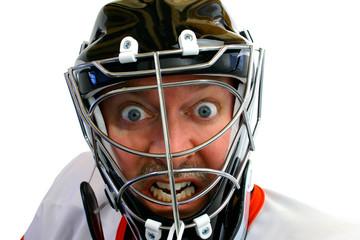 mad hockey goalie