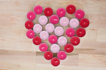 pink and red votive heart