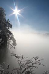 traumhaft schöner wintertag