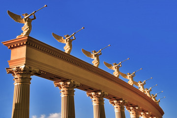 ensemble of winged trumpeters