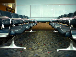 empty waiting area in airport