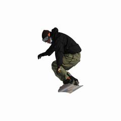 saut snowboard détouré