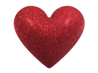 glittering valentine heart (+ clipping path)