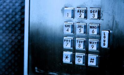 pay phone keypad