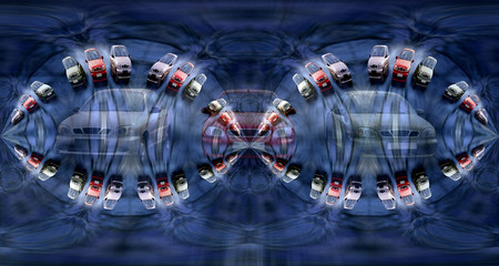abstract pattern of speed cars