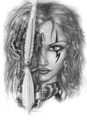 gothic girl aggressive