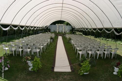 """""""outdoor Wedding Ceremony Tent Chair Elegant"""" Stock Photo"""