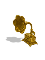 gold old gramophone