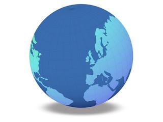 globe 2 blue