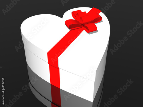 """gift box in heart shape"" Stok Gorseller ve Telifsiz gorseller Fotolia.com 'da - Fotograf 2226198"
