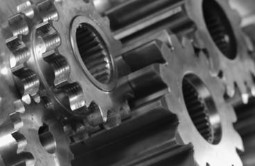 gear machinery close-up
