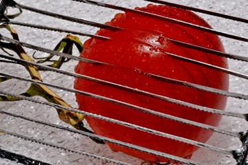 chopping a tomatoe
