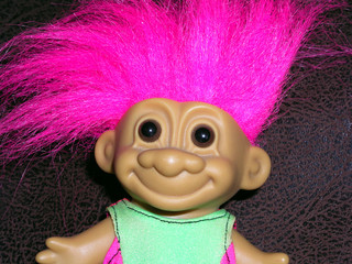 pink haired troll