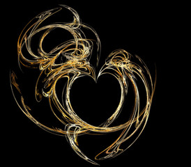 smoky golden heart