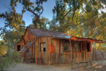 old western cabin