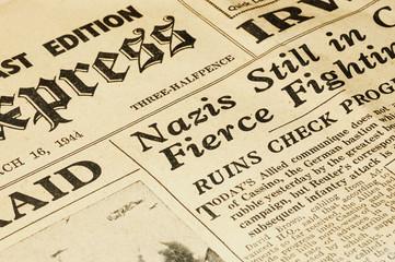 In de dag Kranten wartime newspaper