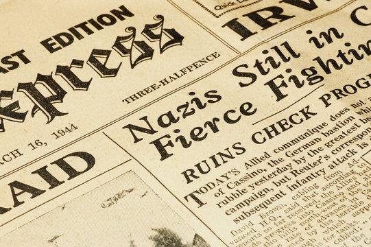 wartime newspaper