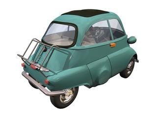 petite automobile verte années 60-70