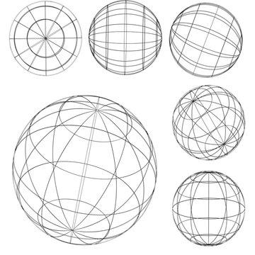 illustration: original globe elements-spheres