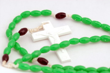 rosary with white cross