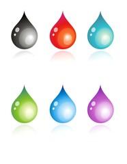 multicolour drops illustration