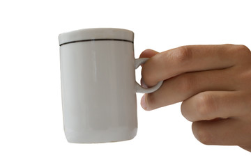hand with a cup