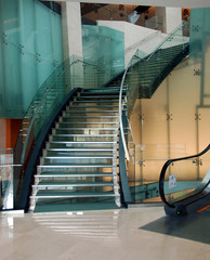 steel and glass staircase
