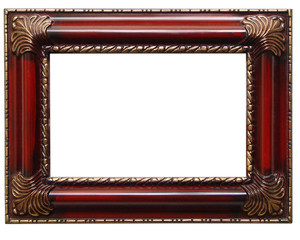 clip-pathed antique frame