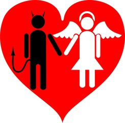 devil and angel. it is love.
