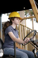 female equipment operator