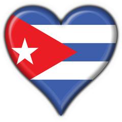 bottone cuore cubano - cuba button heart flag