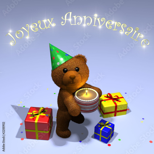 Carte Joyeux Anniversaire Nounours Stock Photo And Royalty Free