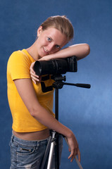 russian girl with photocamera 03