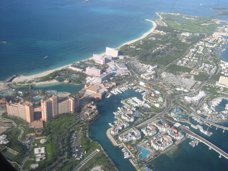 paradise island, aerial