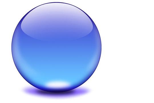 glaskugel blau