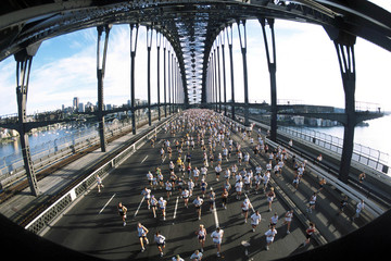 Canvas Prints Sydney marathon run sydney 01