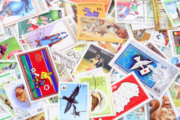 collection of used stamps