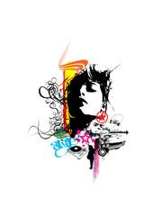 abstract  wonderland t-shirt background wallapaer