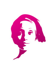 girl face graphic t-shirt background