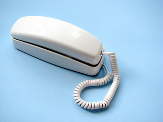 older white telephone
