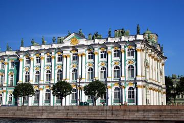 st.-petersburg.   view on the hermitage.
