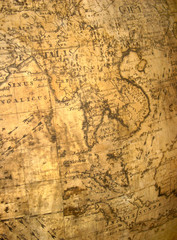 far east on ancient globe